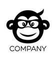 modern monkey logo vector image vector image