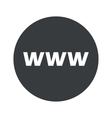 Monochrome round WWW icon vector image vector image