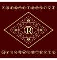 Monogram design elements English letters emblem vector image