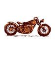 motorcycle emblem biker club vintage style vector image vector image