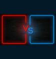 neon versus label template vector image vector image