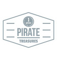 pirate treasures logo simple gray style vector image vector image