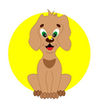 puppy with a butterfly vector image