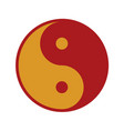 red gold yin and yang balance symbol graphic vector image vector image