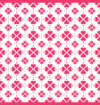 red heart shape flowers seamless pattern vector image vector image