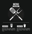 restaurant menu infographic in black and white vector image
