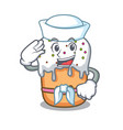 sailor easter cake character cartoon vector image vector image