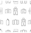 seamless pattern from hand drawing suitcases vector image
