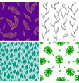 seamless pattern leaves nature vector image