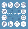 security flat icons set vector image vector image
