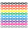 set colorful metal chains vector image vector image