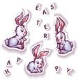 Set of cartoon cute rabbits vector image vector image