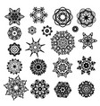 set of shapes of stars and snowflakes vector image