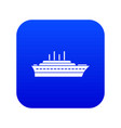 ship icon digital blue vector image vector image