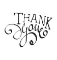 thank you handwritten inscription vector image