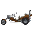 the brown heavy motor tricycle vector image vector image