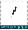 Thunder icon flat vector image