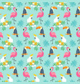 tropical seamless pattern with exotic birds vector image vector image