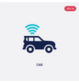 two color car icon from artificial intelligence vector image