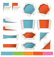 Various Kind of Torn Paper Background vector image vector image