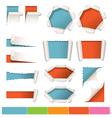various kind torn paper background vector image