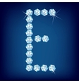 vector diamond alphabet letter e vector image