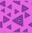 violet prints with ornate triangles on pink vector image vector image