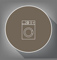 washing machine sign white icon on brown vector image vector image