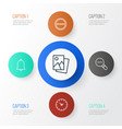 web icons set collection of time refuse alert vector image vector image