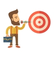 Working man holding a target arrow vector image
