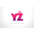 yz y z letter logo with pink purple color and vector image vector image