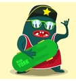 cool skate monster graphic vector image