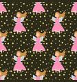 fairy princess adorable characters seamless vector image