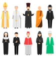 Religion people set vector image