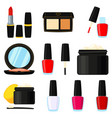 11 colorful cartoon makeup elements vector image vector image