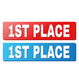 1st place title on blue and red rectangle buttons vector image