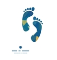 abstract fabric triangles footprints silhouettes vector image vector image