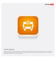 ambulance icon orange abstract web button vector image