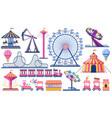 amusement park circus festival tent roller vector image