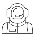 astronaut avatar thin line icon spaceman vector image vector image