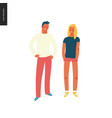 bright people portraits - young man and woman vector image vector image