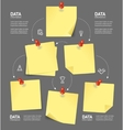 Business Plan with Blank Note and Pushpins vector image vector image