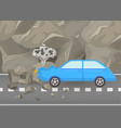 car crash and accidents on road vector image