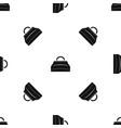 carpetbag pattern seamless black vector image vector image