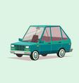 cartoon blue car vector image vector image