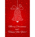 Christmas bell made from snowflakes For postcard vector image vector image