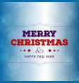 christmas greetings card with creative design and vector image