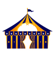 Circus blue tent vector | Price: 1 Credit (USD $1)