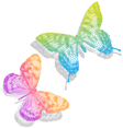 Colorful butterflies with shadow vector image vector image