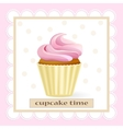 Cupcake tame vector image vector image